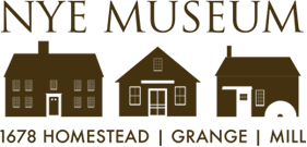 Nye Museum Homestead, Grange and Old Mill logo