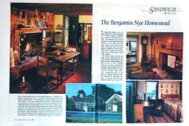 an image of the article on the Nye Museum from the Colonial Home Magazine