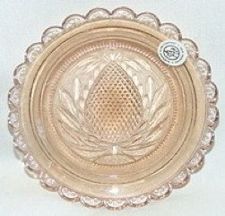 Pineapple light amber Cup plate