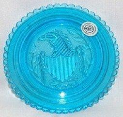 Eagle design blue Cup plate