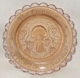 Grange Light Amber Cup plate