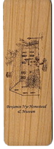 "Cherry wood Bookmark ""HOMESTEAD"""