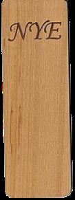 "Cherry Wood Bookmark ""NYE"""