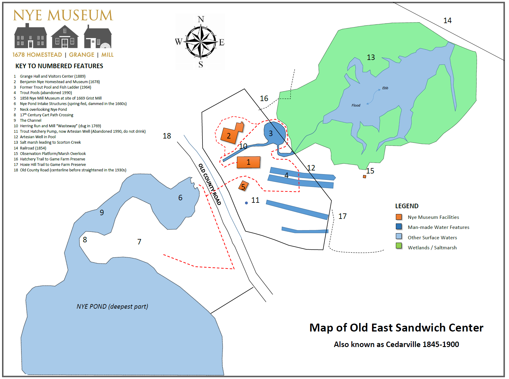 Self guided tour map